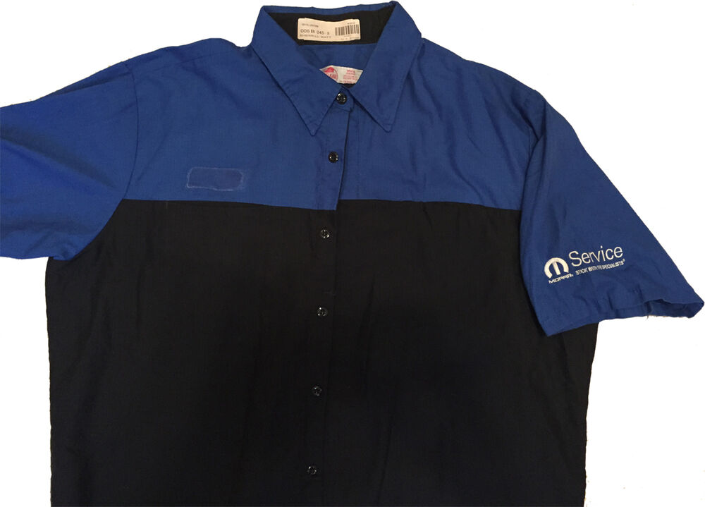 Red kap mopar technician short sleeve work uniform for Red kap mechanic shirts