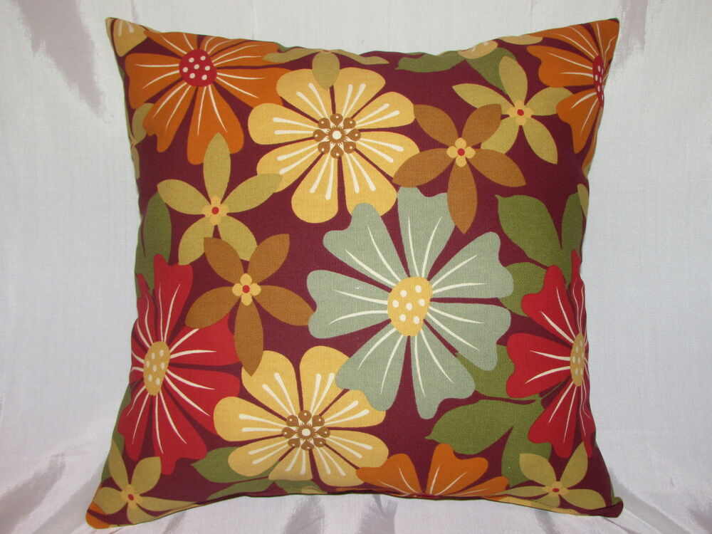 Decorative Floral Pillow Covers : DECORATIVE THROW PILLOW CUSHION COVER 17