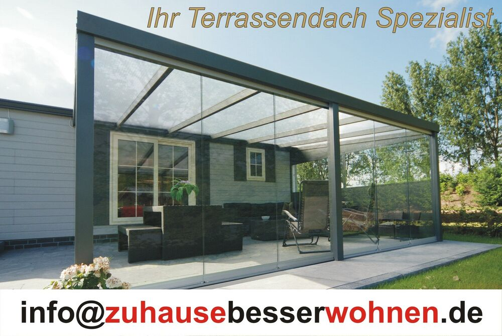 terrassen berdachung aluminium terrassendach berdachung carport 5x3 5m vsg glas ebay. Black Bedroom Furniture Sets. Home Design Ideas