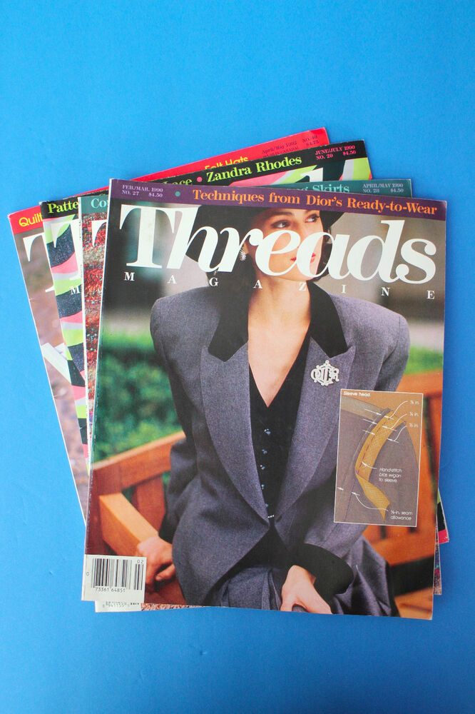 Threads Magazine, Lot of 3, Jan., Mar., May 2013