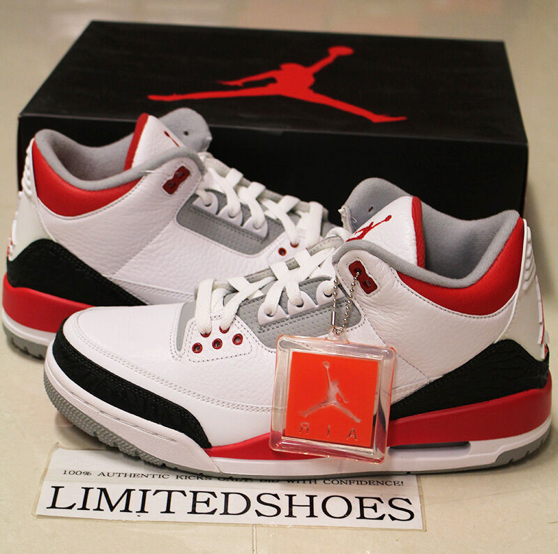 2013 nike air jordan 3 iii retro fire red 136064 120. Black Bedroom Furniture Sets. Home Design Ideas