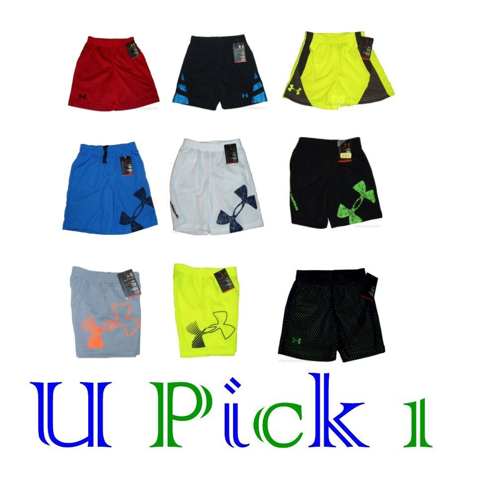 UNDER ARMOUR SHORTS SPORT ATHLETIC ACTIVE PLAY CHILDRENS ...