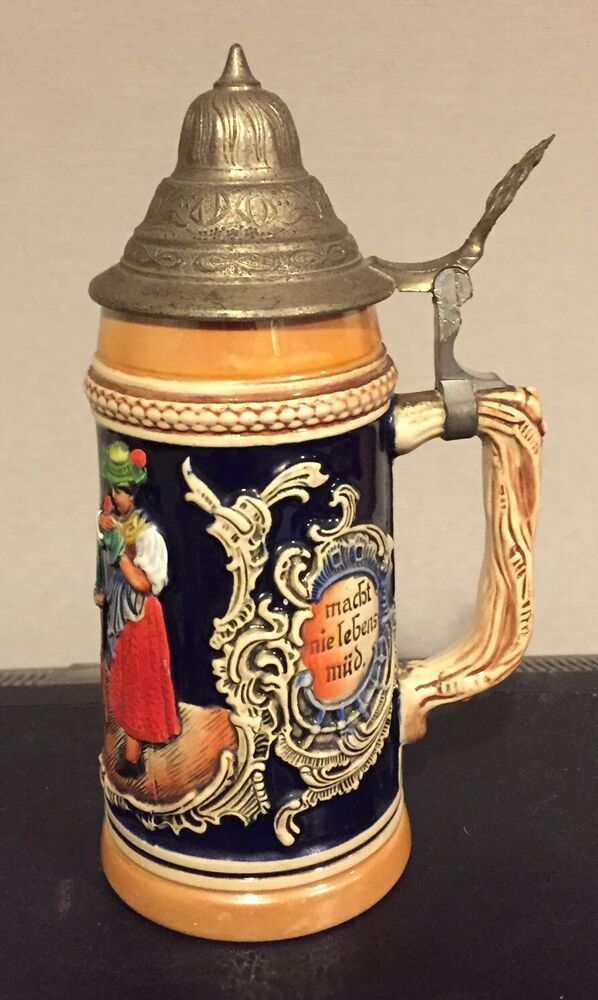 Original Vintage German Lidded Beer Stein West Germany |Vintage West Germany Beer Steins