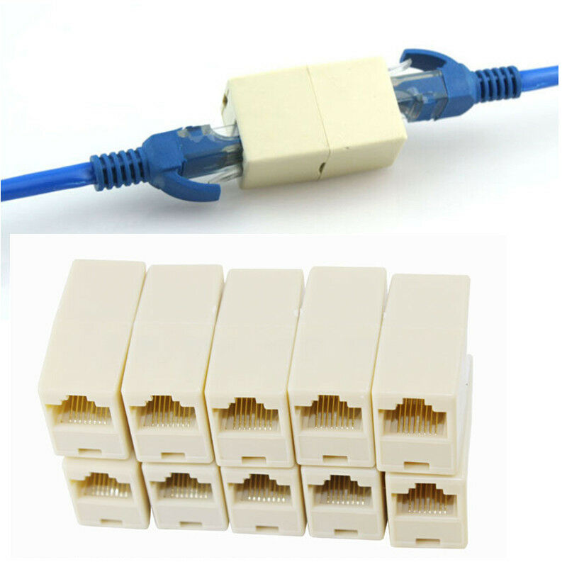 Tius 10pcs rj45 cat5 coupler plug network lan cable - Wireless extender with ethernet ports ...
