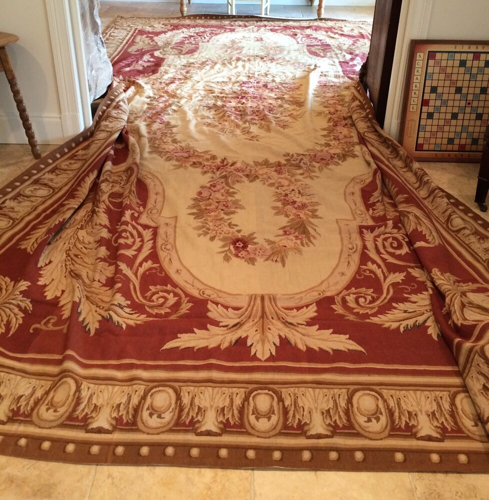 French Aubusson Needlepoint Rug Ebay