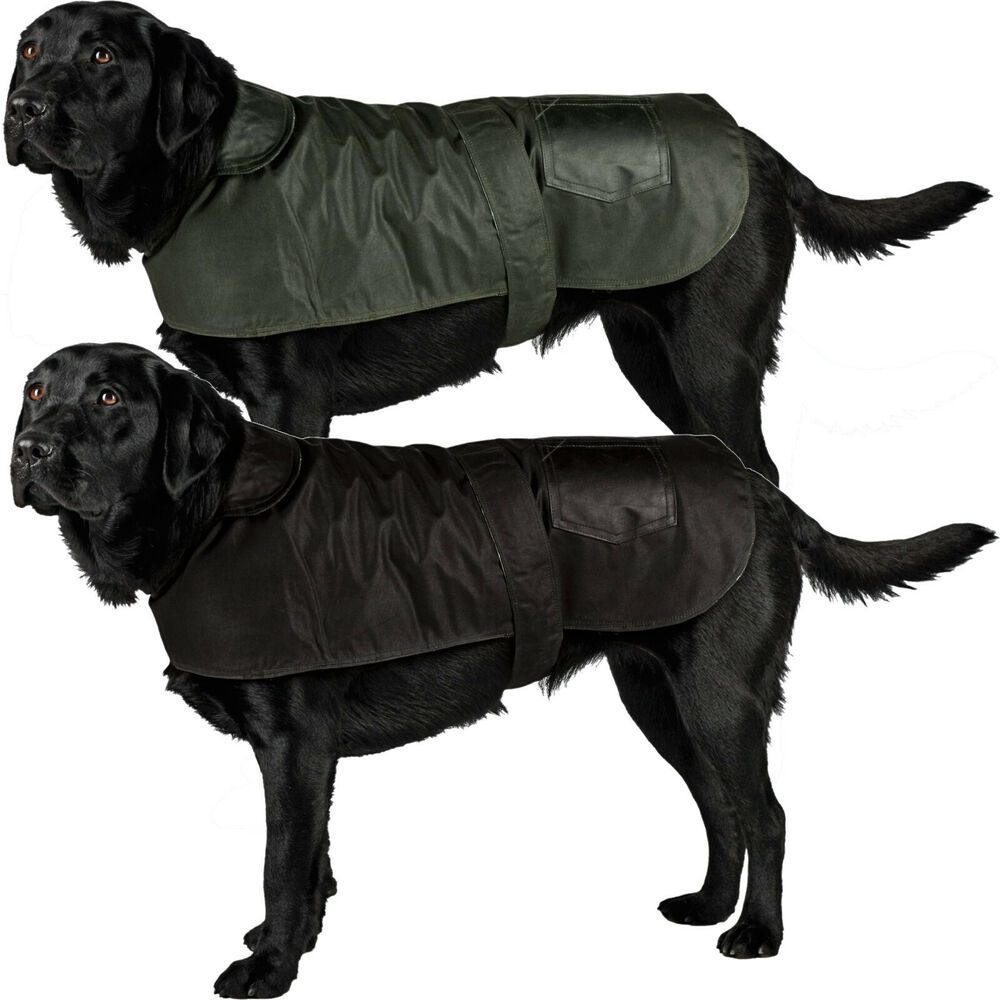 New British Wax Dog Coat Waterproof Waxed Cotton Outdoor