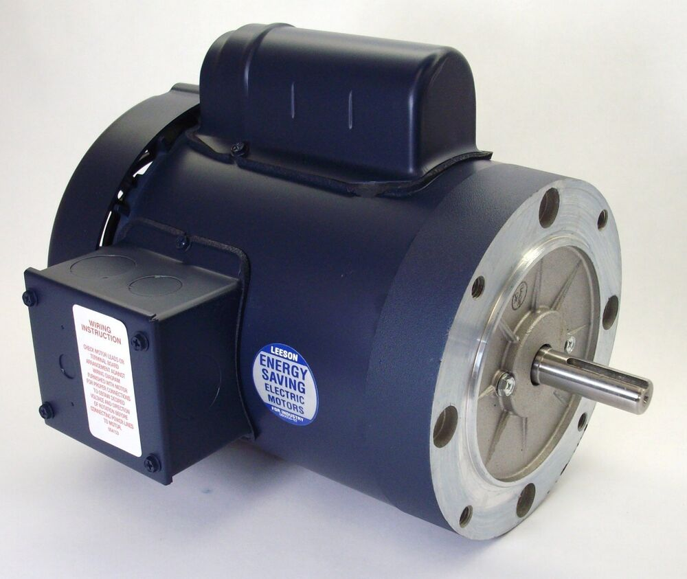 1 5 hp 3450 rpm 56c frame tefc 115 208 230 volts leeson for Electric motor 1 5 hp