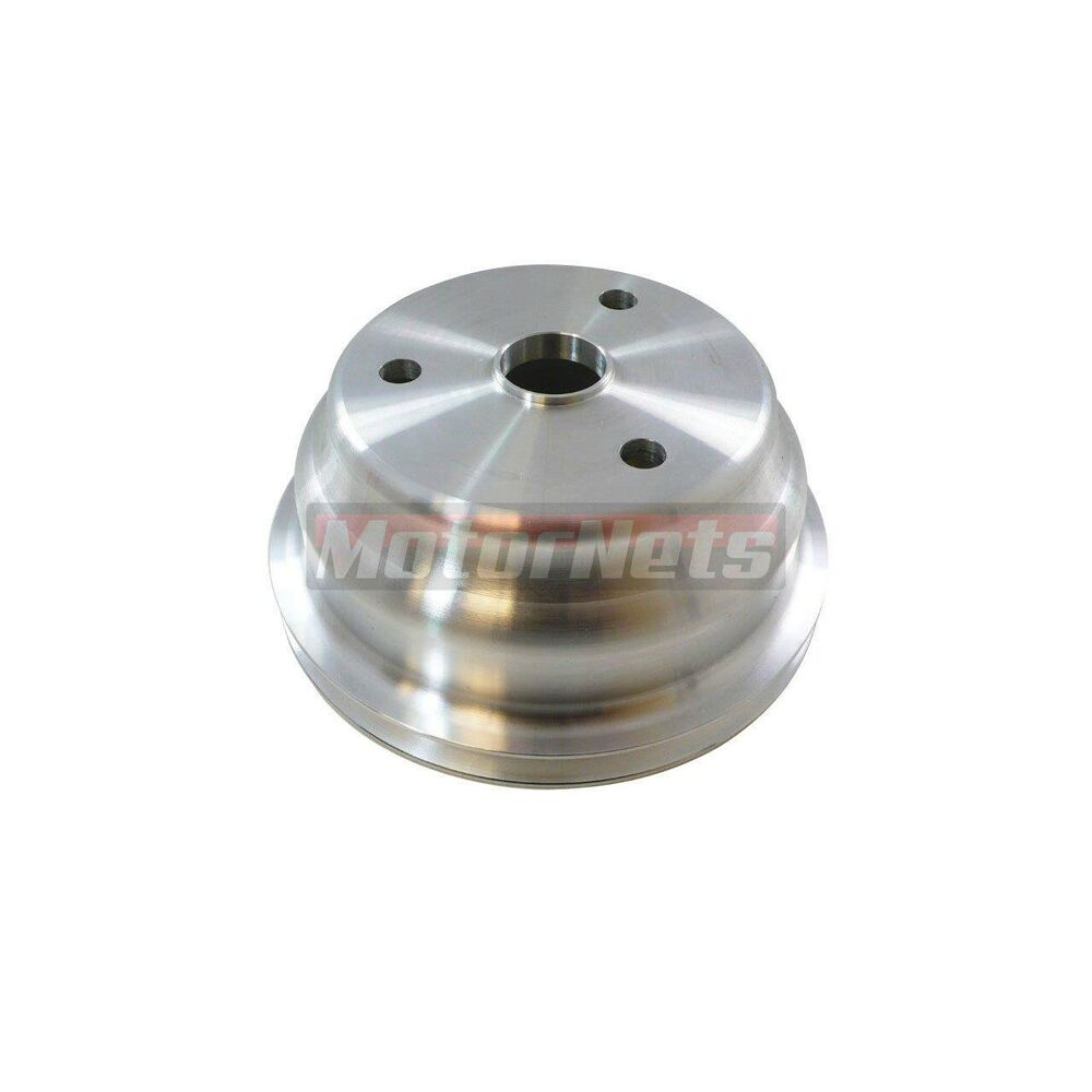 Satin Aluminum Small Block Chevy LWP Crankshaft Pulley