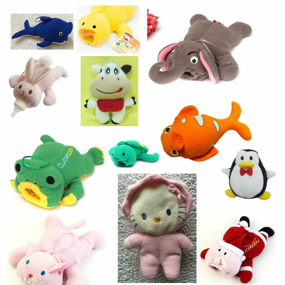Cute Animal Baby Bottle Feeder Cover Dolphin Duck Bunny