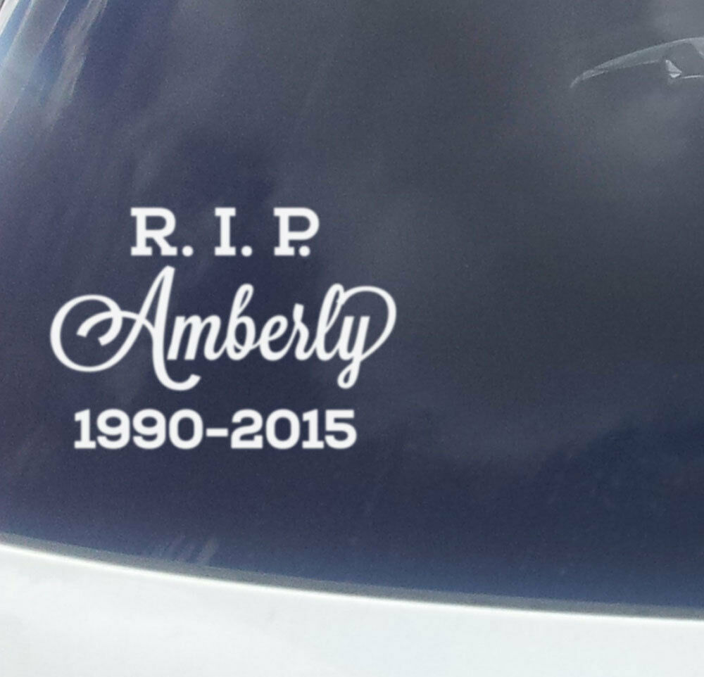 Details about custom name sticker rip r i p rest in peace memorial car sign vinyl decal