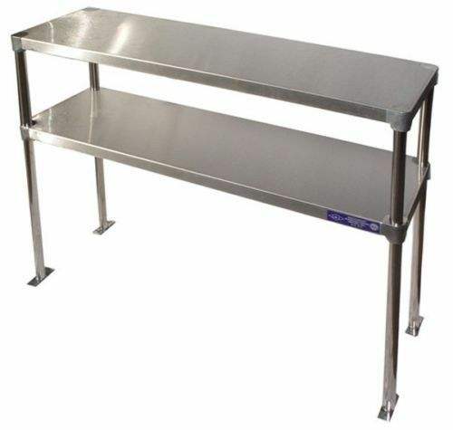 Stainless steel 18 x 60 table mounted adjustable double for Table cuisine 60 x 60