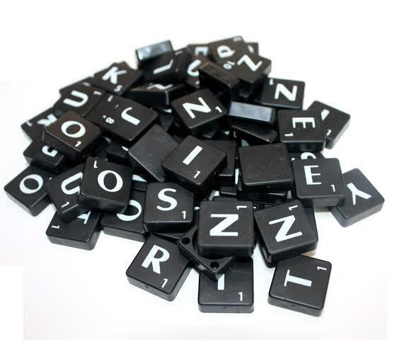 200 black scrabble tiles plastic letters full sets art craft