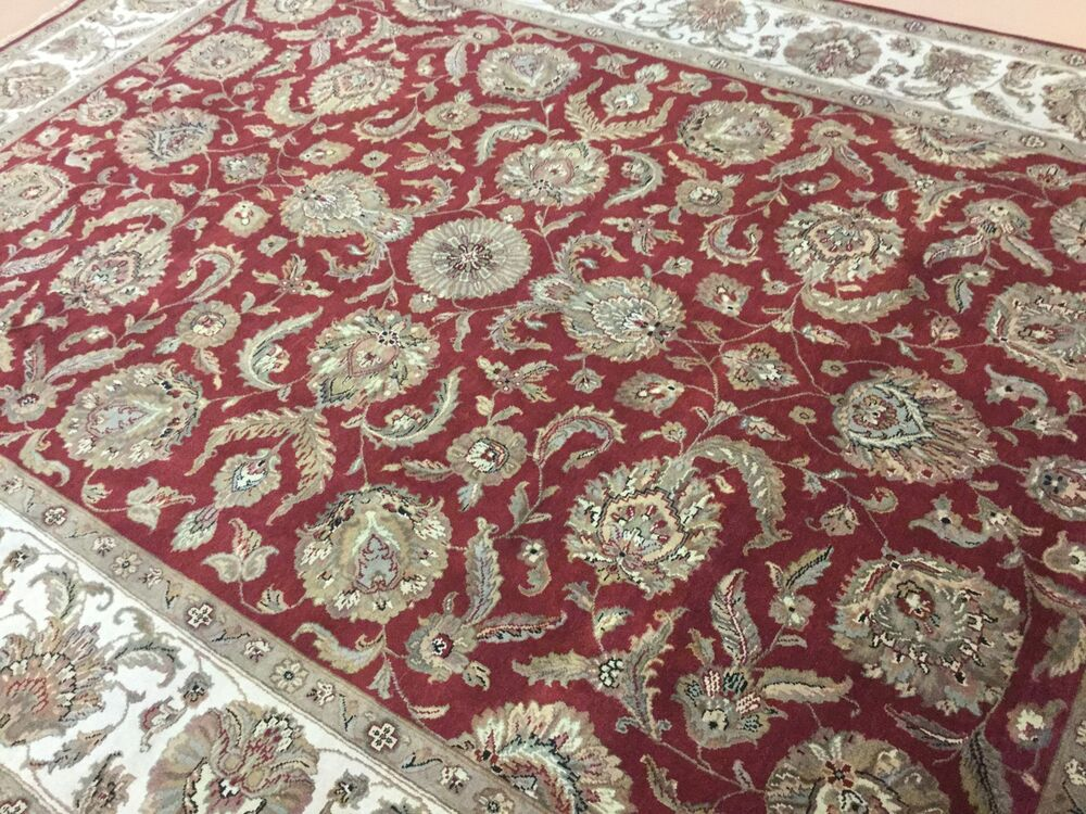 9 X 12 Red Beige Agra All Over Persian Oriental Area Rug