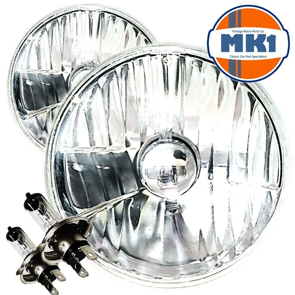 "Crystal Halogen Headlights Kit Lamp 5 3/4"" Caterham 7"