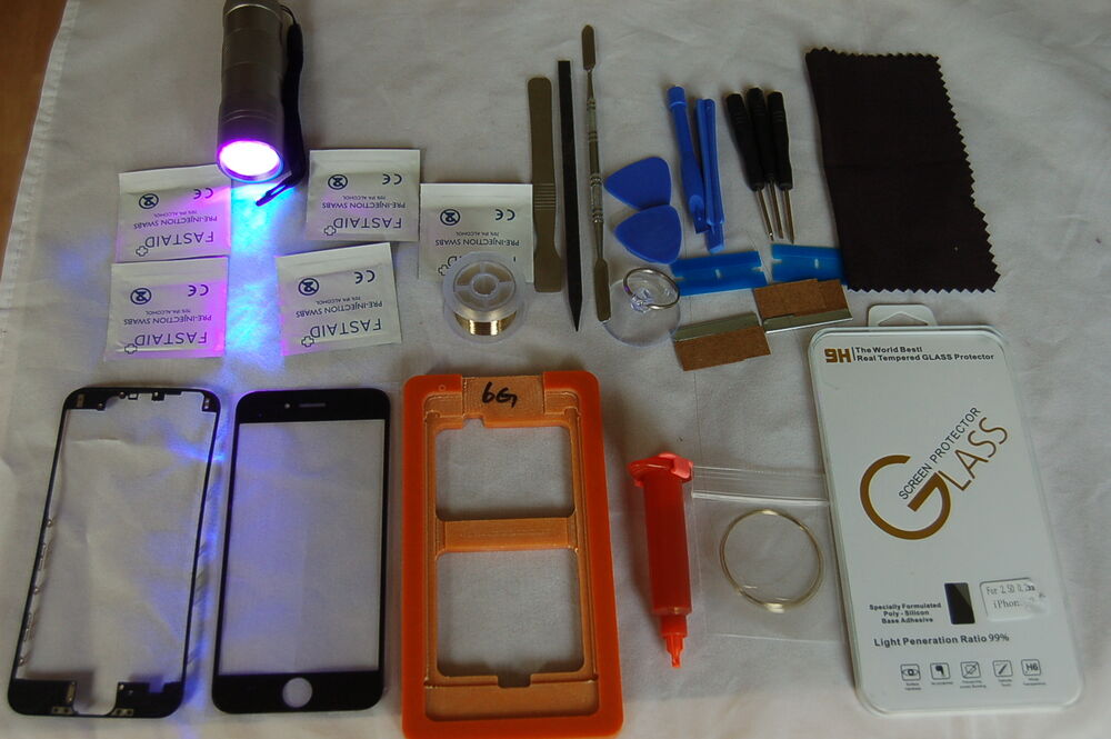 Highly professional iphone 6 plus front glass repair kit black all you need ebay - Kit reparation iphone 6 ...