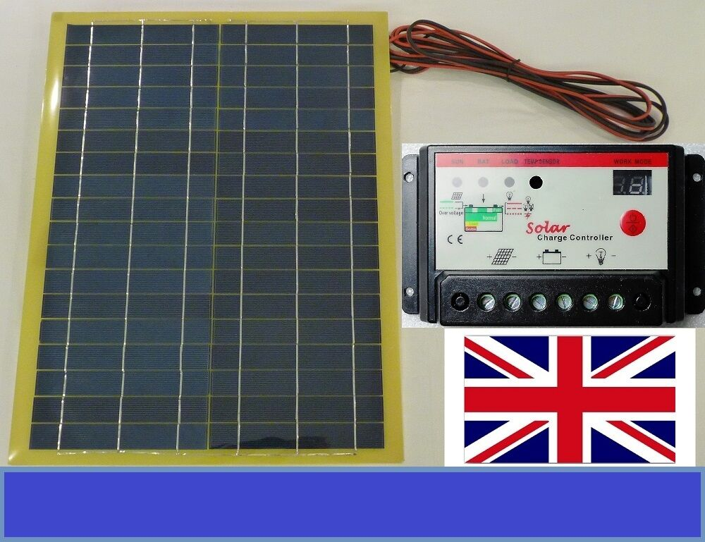 20w Light Weight Solar Panel 10a 12v 24v Battery Charger