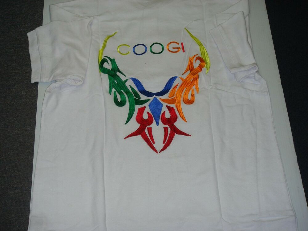 Coogi men shirts nwt with graphic coogi design on back ebay for Shirts with graphics on the back