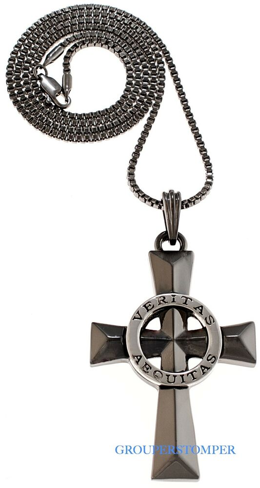 veritas aequitas necklace new and justice 24 inch