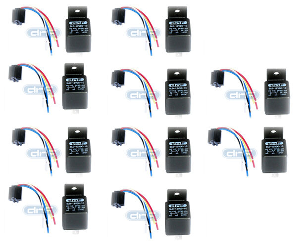 10 pair relay harness 30 40 amp spdt 12v bosch style. Black Bedroom Furniture Sets. Home Design Ideas