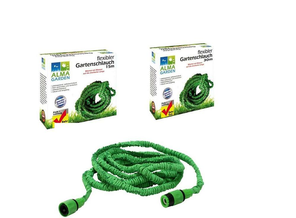 gartenschlauch flexibel wasserschlauch dehnbar 15m 30m. Black Bedroom Furniture Sets. Home Design Ideas