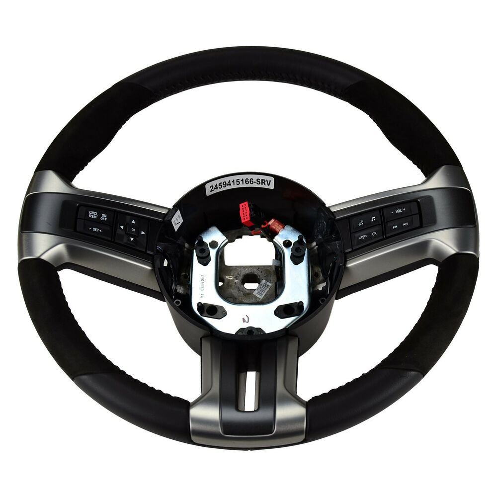 Oem New 2013 2014 Ford Mustang Gt500 Suede Leather Steering Wheel Dr3z3600ab Ebay