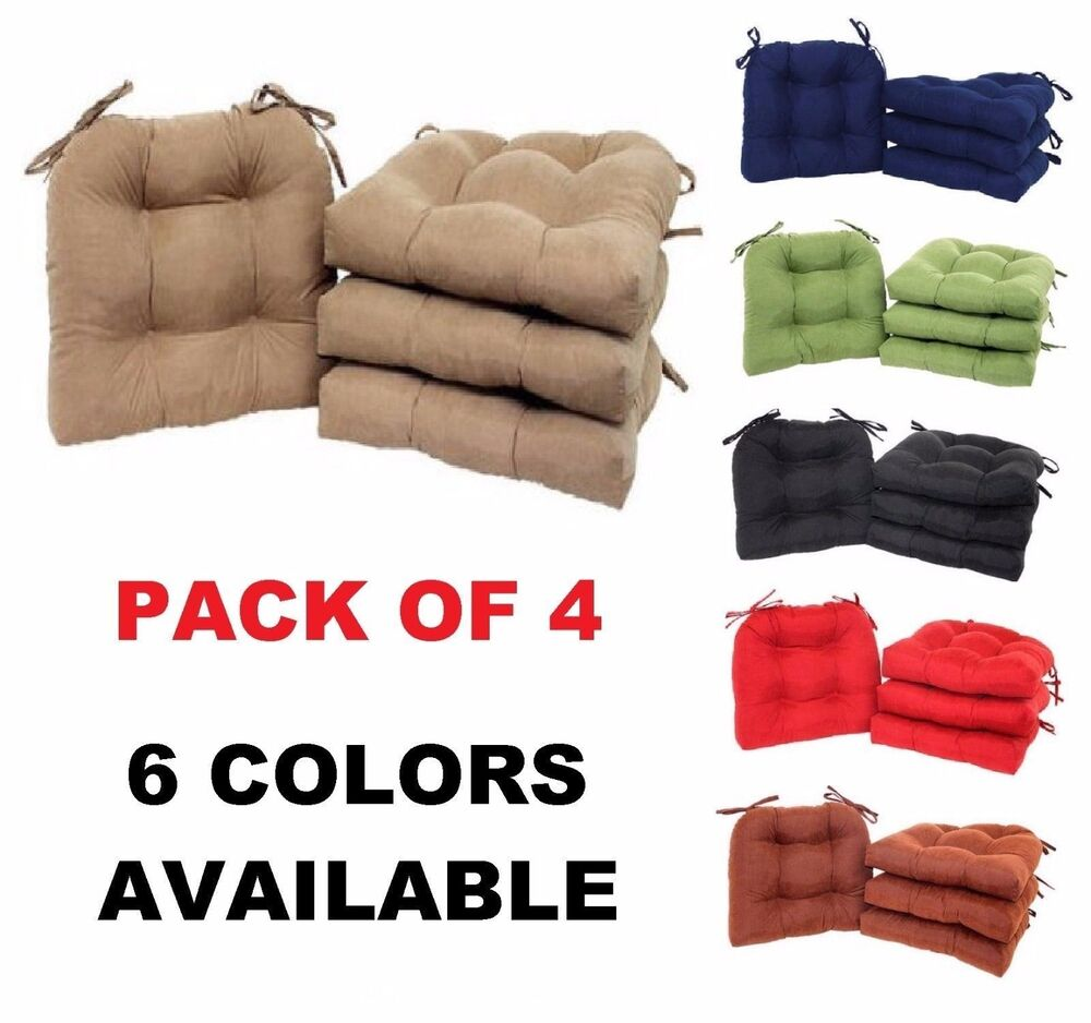 Dining room chair back cushions - Chair Pads Set Of 4 Faux Suede Chair Cushion Seat Sofa Dining
