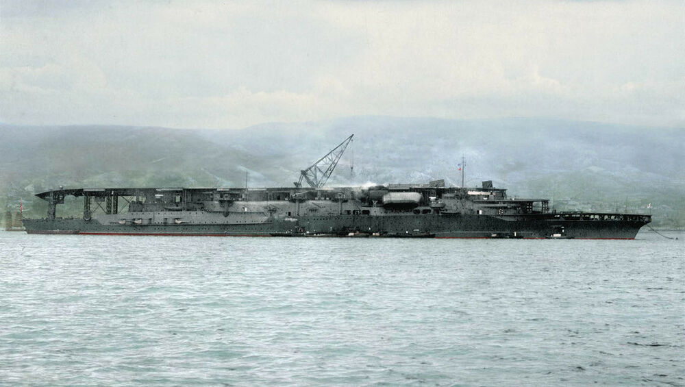 Ww2 aircraft carriers in color