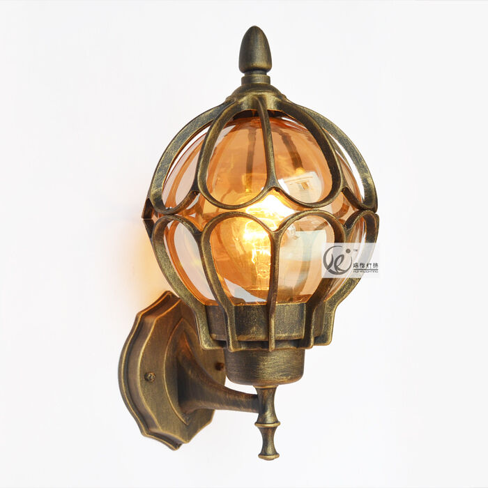Edison Vintage Industrial Wall Lamp Loft Glass Balcony Light Outdoor Waterpro