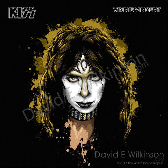 Kiss Tommy Thayer Makeup: KISS Vinnie Vincent Vintage Solo Album Art Giclee' By