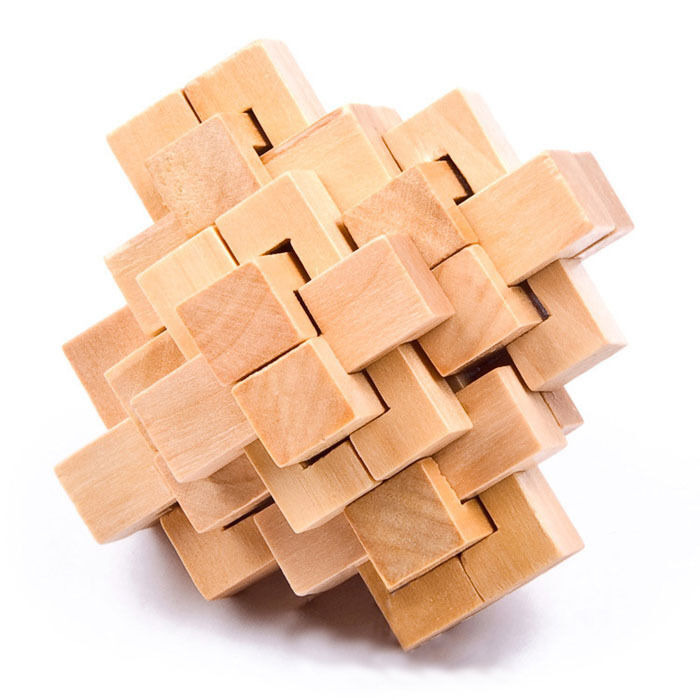Conundrum Wood 3D Construction Lock Jigsaw Wooden Puzzle