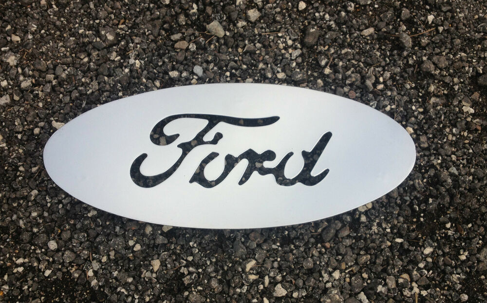 Classic Ford Emblems Decals : Vintage ford emblem chrome metal cut out l