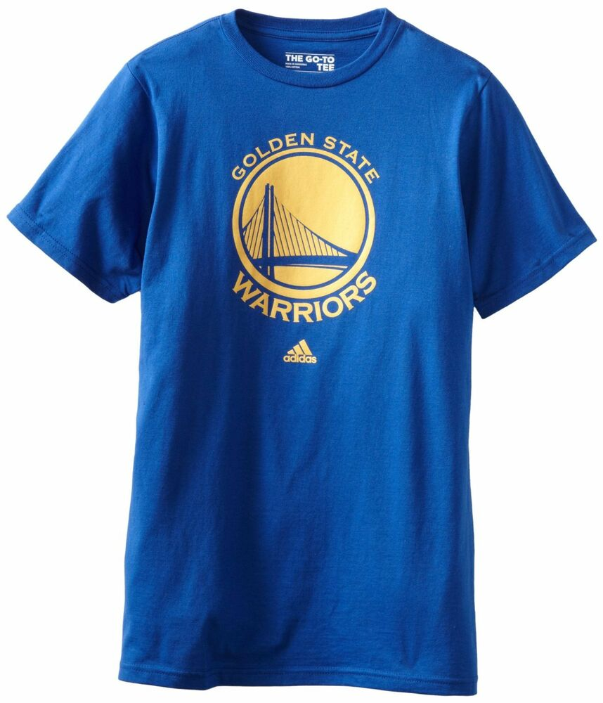 golden state warriors adidas primary logo t shirt royal