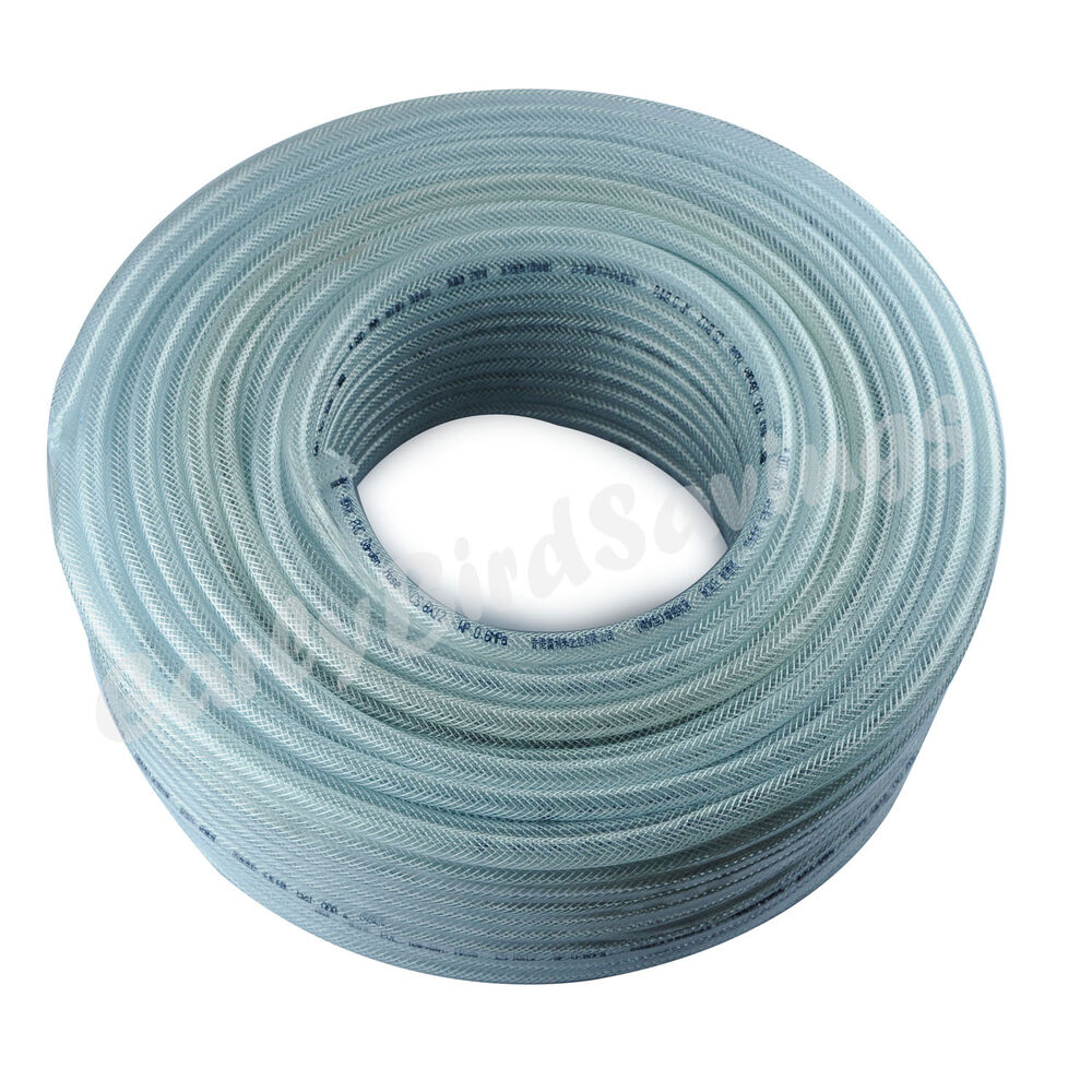 clear braided flexible pvc hose pipe reinforced tubing for water pump car wash ebay. Black Bedroom Furniture Sets. Home Design Ideas