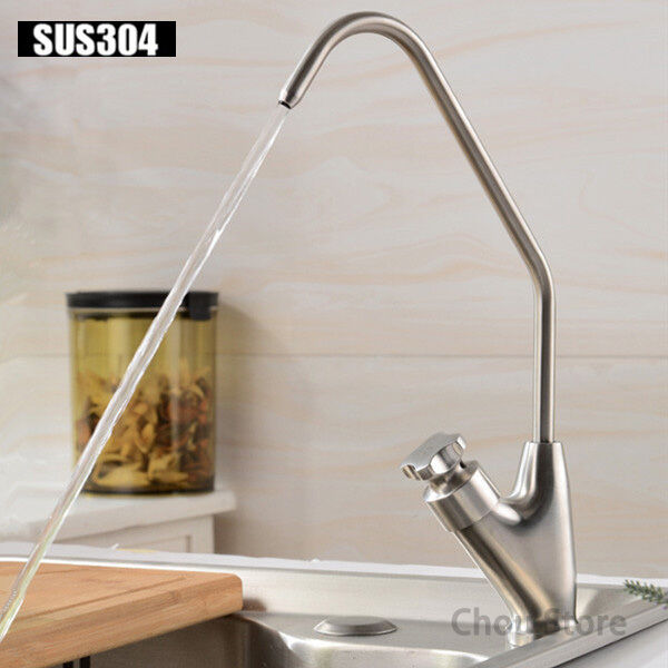 SUS 304 Stainless Steel Kitchen Pure Water Filter Faucet Single Handle Water