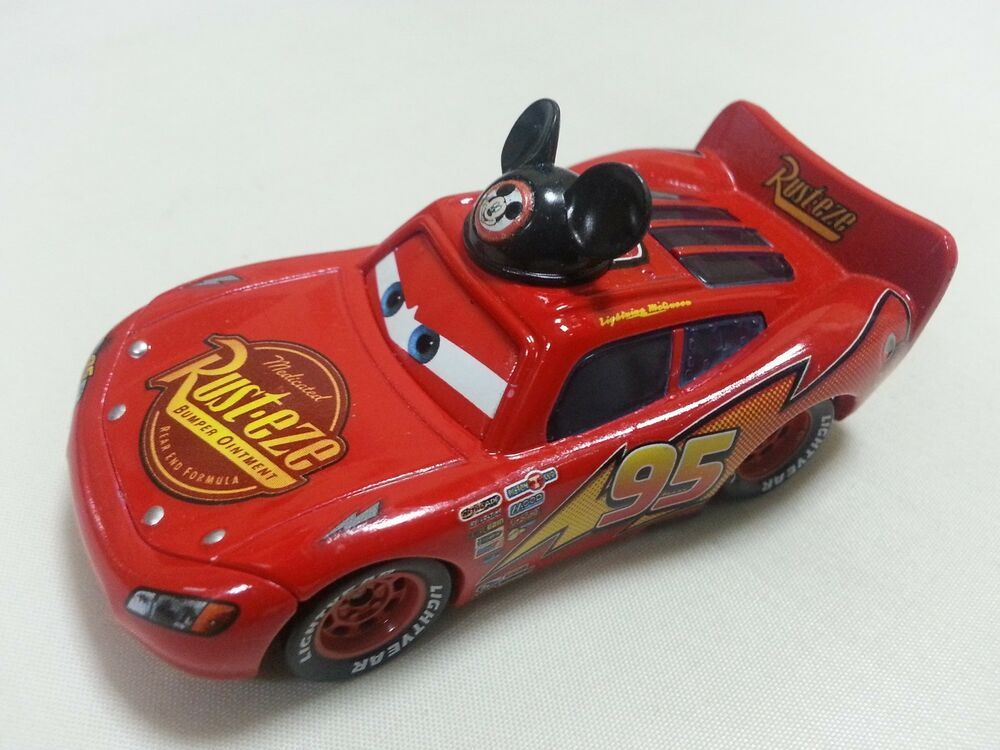mattel disney pixar cars mickey flash mcqueen metal toy car 1 55 loose new ebay. Black Bedroom Furniture Sets. Home Design Ideas