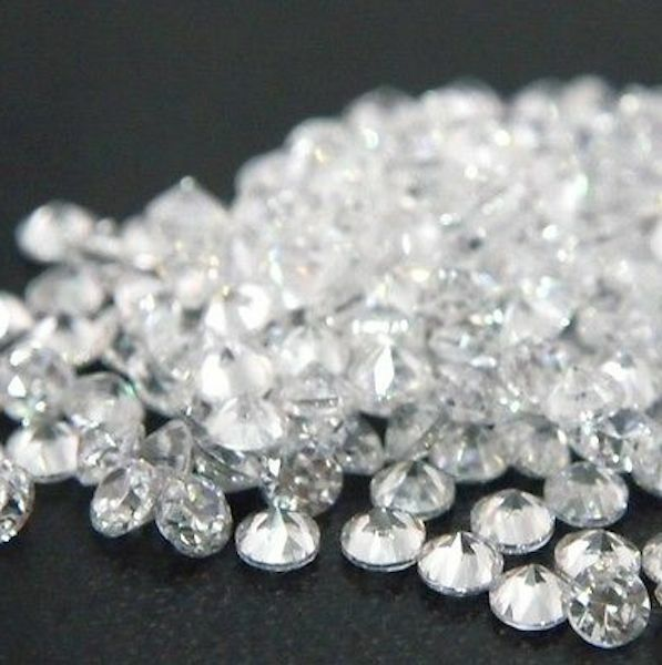 Free Shipping Round 1mm 20mm White Cubic Zirconia Stone