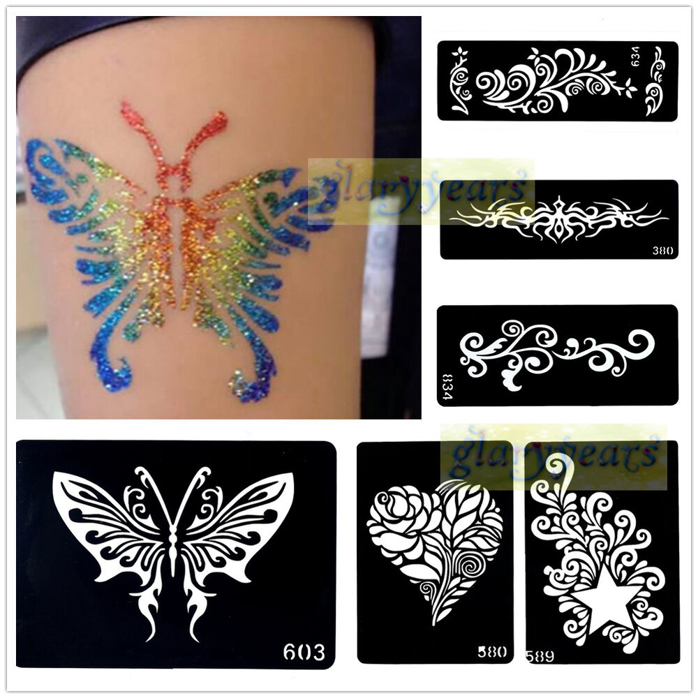 Henna Tattoo Designs Diy: 1pc India Henna Temporary Tattoo Stencils Template For
