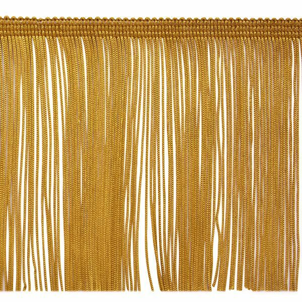 6quot gold chainette fabric fringe lampshade lamp costume