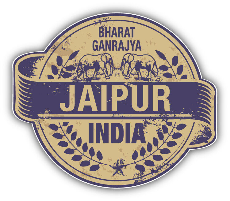 Jaipur City India Grunge Travel Stamp Car Bumper Sticker. Zebra Print Lettering. Mouth Ulcer Formation Signs. Bicycle Frame Decals. Classroom Wall Murals. Christianity Signs Of Stroke. Engry Stickers. Corgi Stickers. Free Meal Stickers
