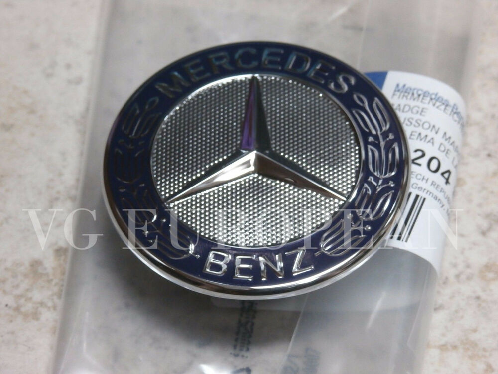 Mercedes benz s e c clk class genuine hood flat star for Mercedes benz bonnet badge
