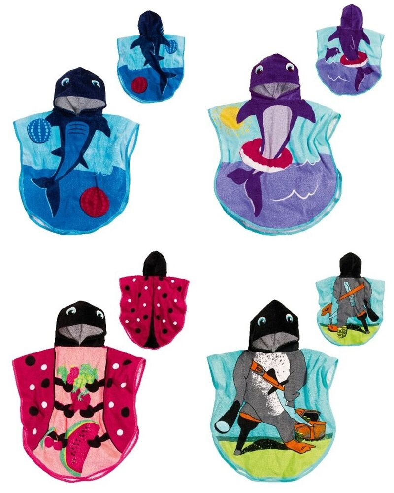 playshoes poncho kinder baby frottee badetuch handtuch. Black Bedroom Furniture Sets. Home Design Ideas