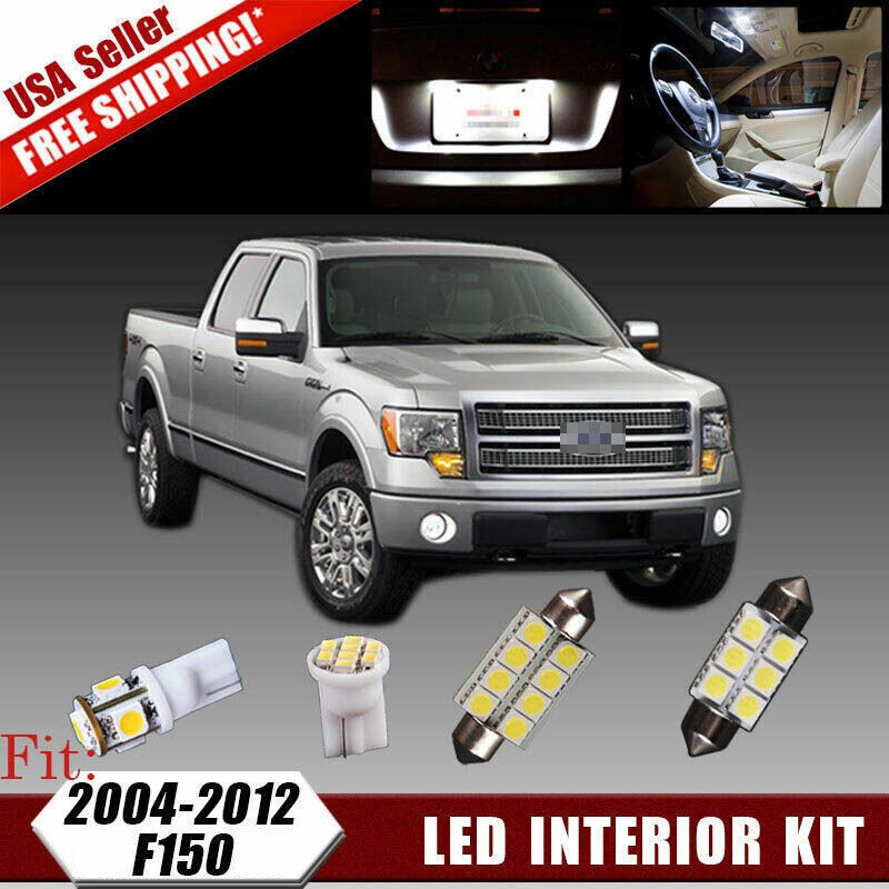 16 Pcs Xenon White Smd Led Lights Interior Package Kit For 2004 2012 Ford F150 Ebay