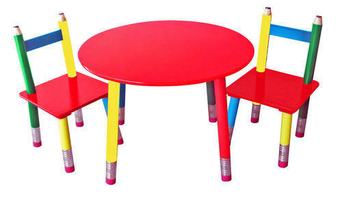 New Wood Pencil Table and Chairs Kids Toy Playroom