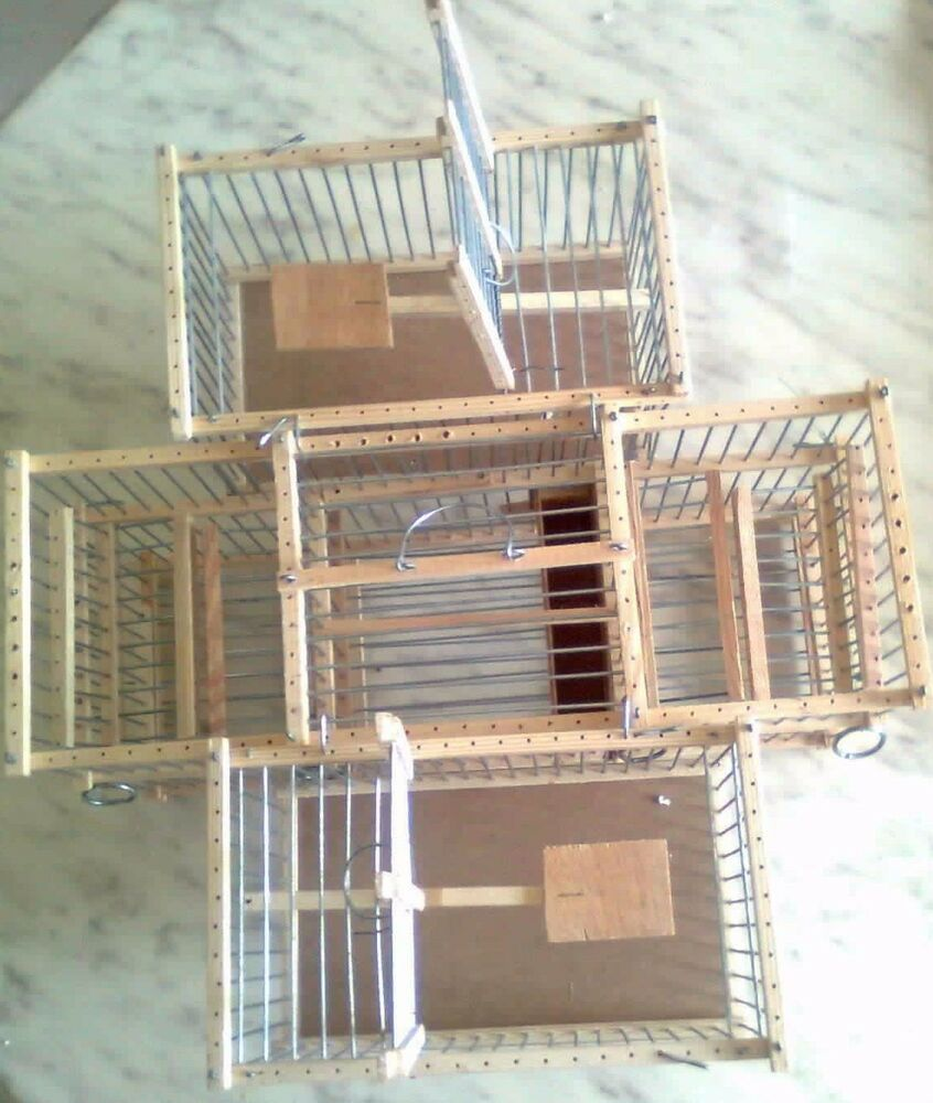 Lot of 3 trap cages double balance and two small for - Cages a oiseaux decoratives ...