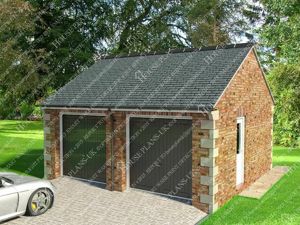 Garage plans house plans cad images extensions ebay for Garage plans uk