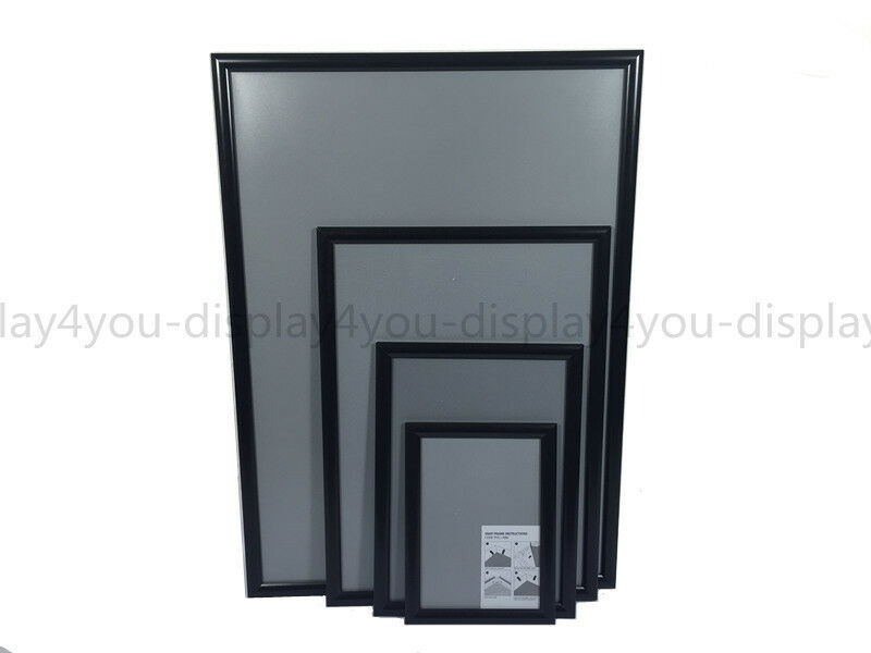 A1A2A3A4 Black Snap Frames Poster Clip Holder Displays ...