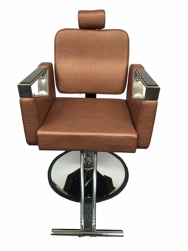Rose gold executive luxurious reclining hydraulic salon for Hydraulic chairs beauty salon