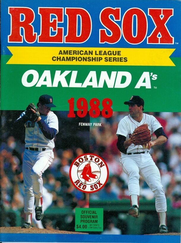 Details about  1988 Red Sox vs Oakland A's American League Championship Series Playoffs Program