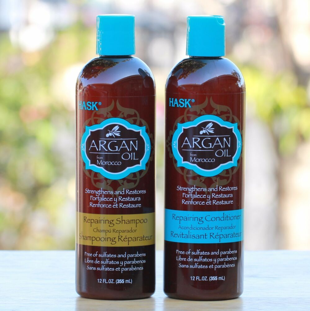 Hask Argan Oil Shampoo Amp Conditioner For Dry Damaged Or