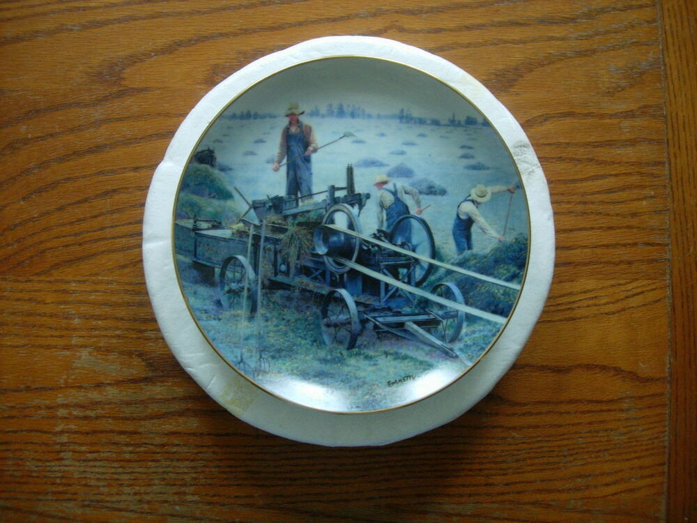 The danbury mint plate baling hay by emmett kaye ebay for The danbury